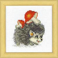 """ВТ-018 Набор для вышивания крестом Crystal Art """"Хозяйственный ежик"""", Код товара: 1053038"""