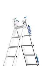 Лестница алюминий 3х11 BRIKS 750 см, фото 2