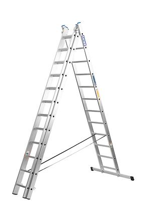 Лестница алюминий 3х15 BRIKS 1120 см 25х100 мм, фото 2
