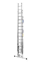 Лестница алюминий 3х15 BRIKS 1120 см 25х100 мм, фото 3