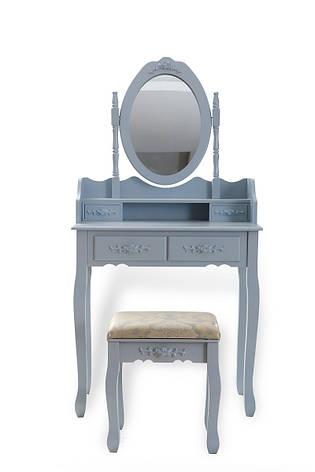Туалетный столик серый + табурет, фото 2