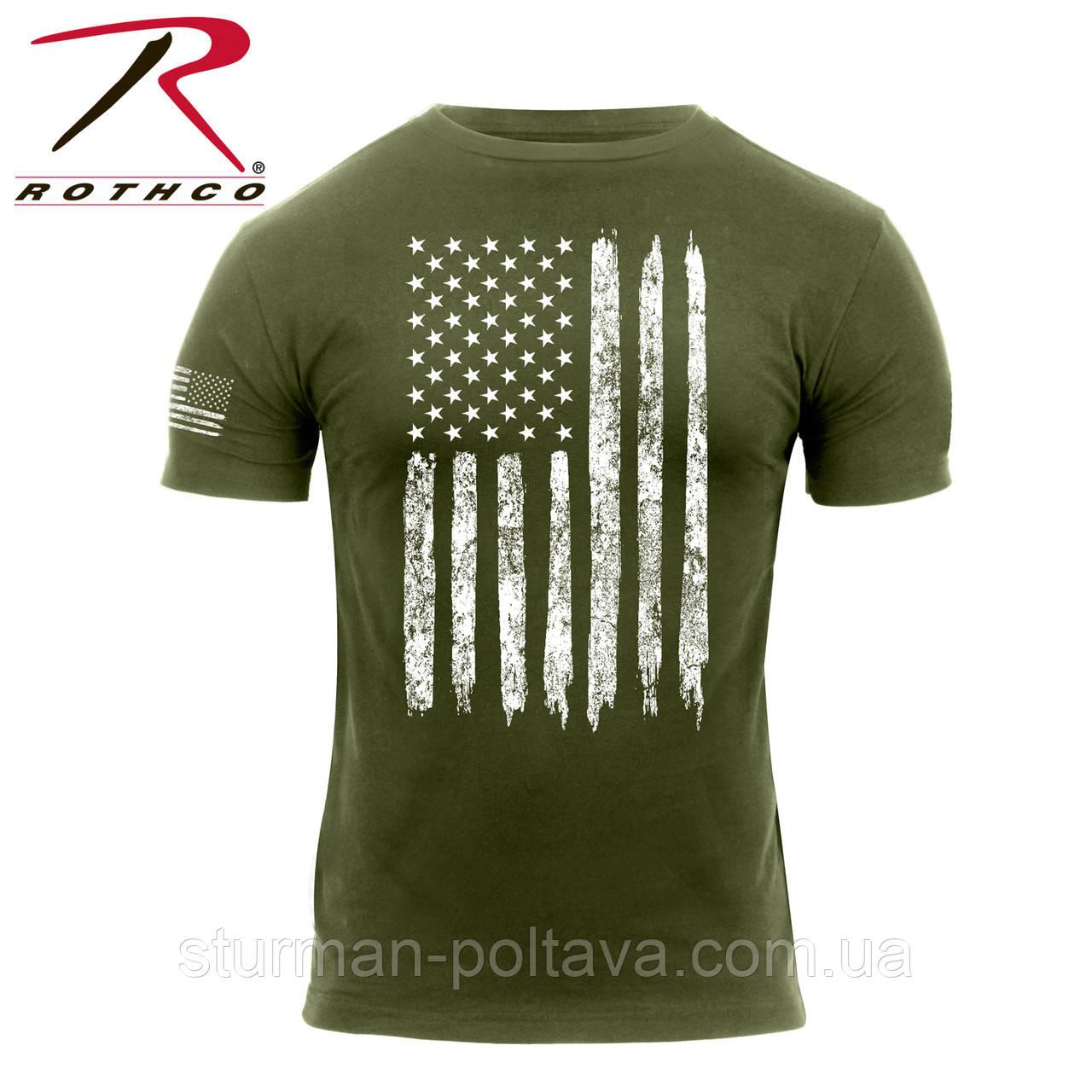 Футболка Rothco Distressed US Flag Athletic Fit T-Shirt США