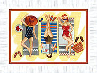 """ВТ-164 Набор для вышивания крестом Crystal Art """"Отдых у моря"""", Код товара: 1058328"""