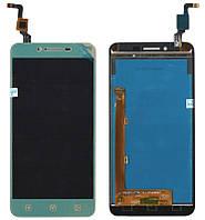 Дисплей + сенсор Lenovo A6020a40 Vibe K5 Золотистый (желтый шлейф)