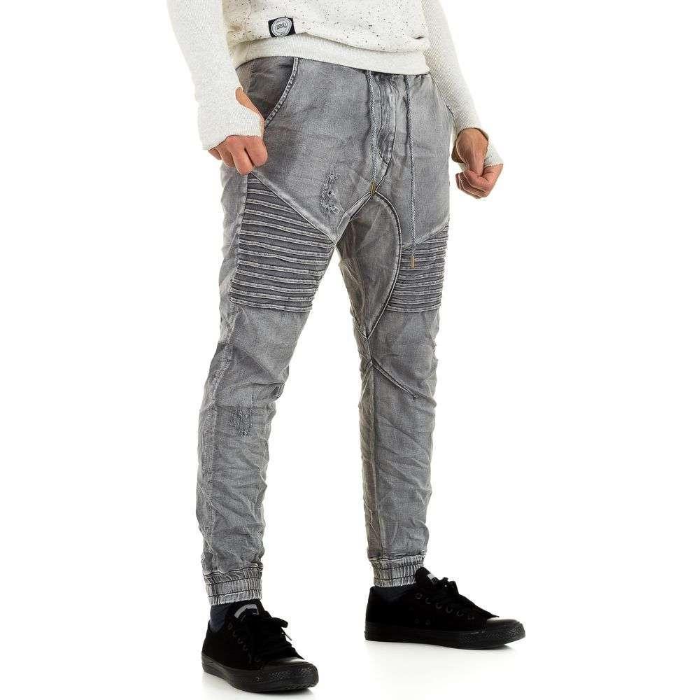 Джинсы с резинкой внизу мужские Y.Two Jeans (Италия), Серый