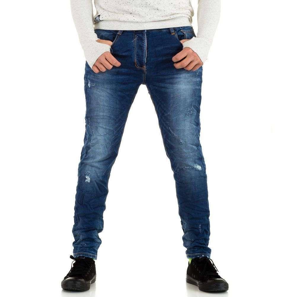 Джинсы узкачи мужские Y.Two Jeans (Италия), Синий