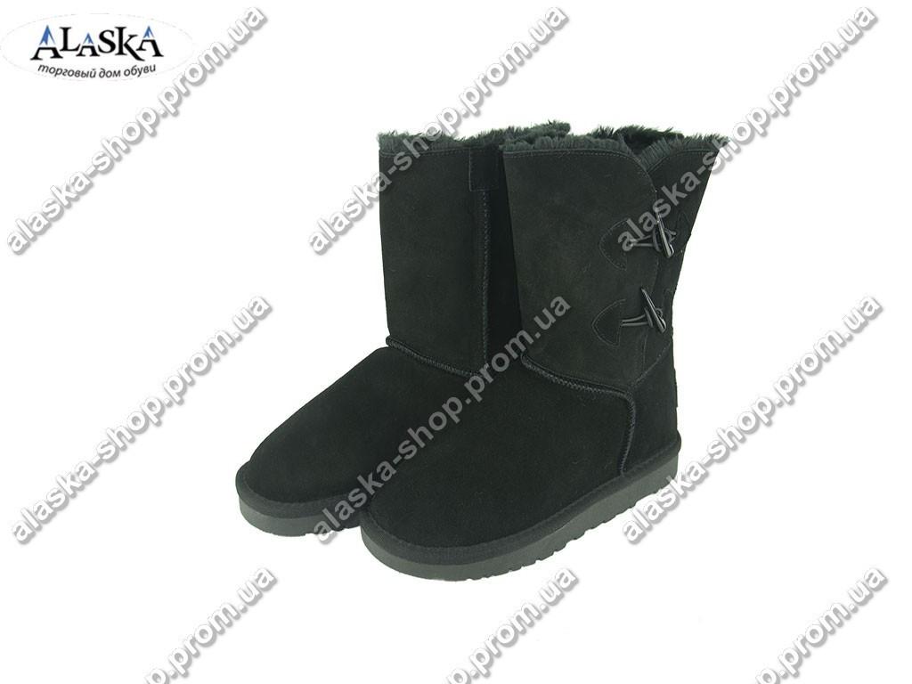 Женские угги черные (Код: 999-12 черный )