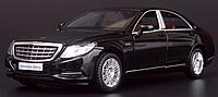 Коллекционная машинка Mercedes-benz S-сlass 222 черная металлическая модель в масштабе 1:32