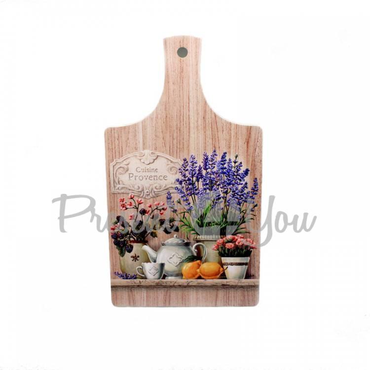 Доска разделочная деревянная «Кухонный прованс. Ежевика», 32х18 см