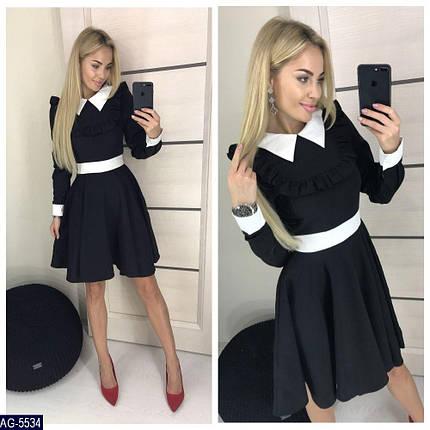 Черное платье с белым воротником, фото 2