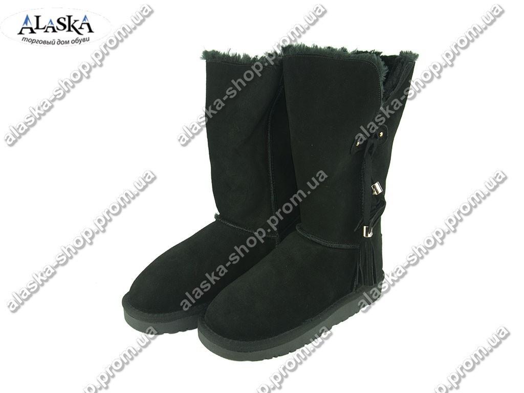 Женские угги черные (Код: 999-25 черный )
