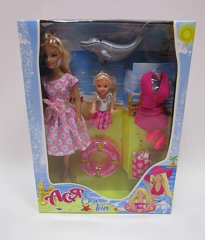Набор с куклой Асей  'Морское приключение' 28 см блондинка и маленькой куклой 11 см