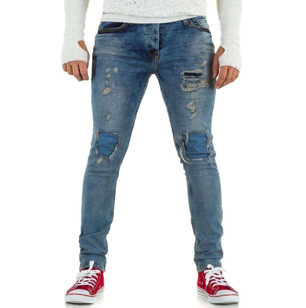 Рваные джинсы мужские с заплатками Uniplay (Европа), Голубой