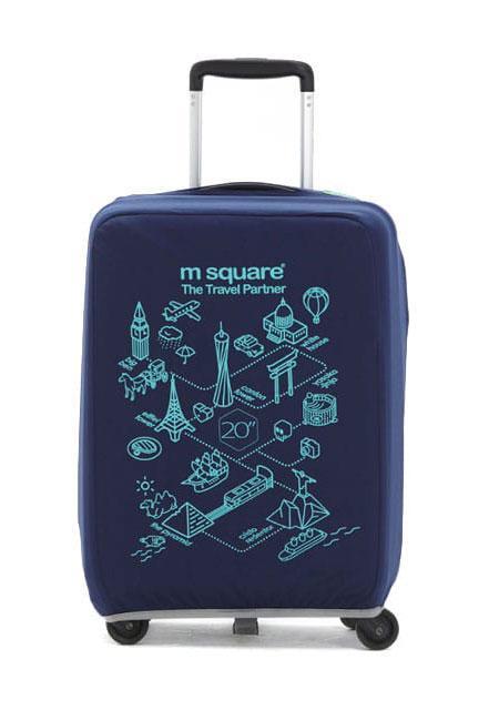 Чехол на чемодан M Square синий