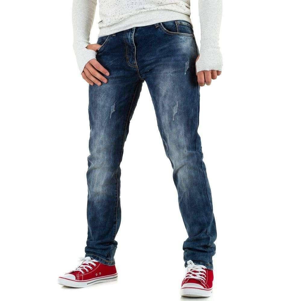 Потертые джинсы мужские Black Ace (Европа), Синий