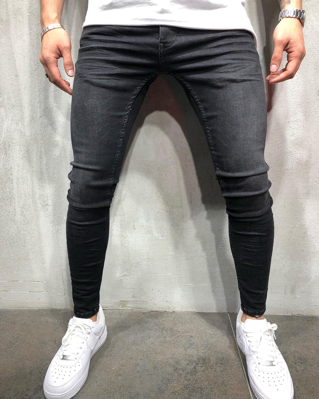 3b15aef2cf6 Мужские джинсы зауженные черные приталенные - Krossovki в Киеве