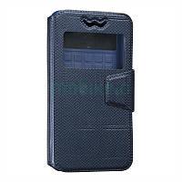 Универсальный чехол для смартфонов 4.3 - 4.5 - 4.8 дюймов Universal Book Cover Carbon Series