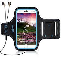 Чехол на руку для смартфона BFSPORT спортивный синий, фото 1
