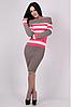 В'язане плаття Памела рожевого кольору, фото 2
