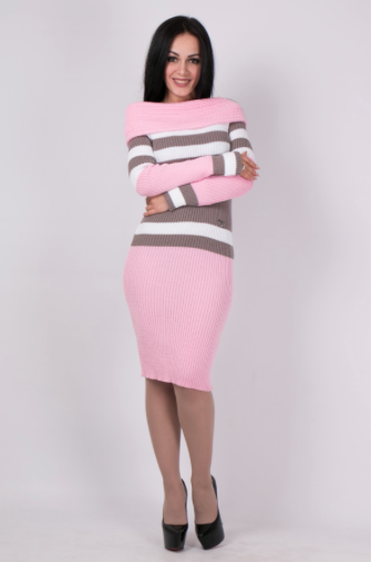 В'язане плаття Памела рожевого кольору