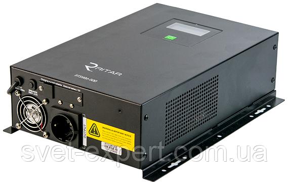 ИБП с правильной синусоидой RITAR RTSWbt-500 (300Вт), 2 встр.АКБ по 12V 9Ah, фото 2