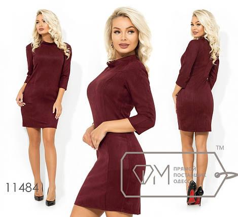 Короткое замшевое платье, фото 2