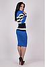 Вязаное платье Памела синего цвета, фото 2