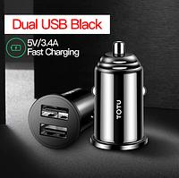 Автомобильное зарядное устройство на 2 USB порта TOTU 5V/3.4А