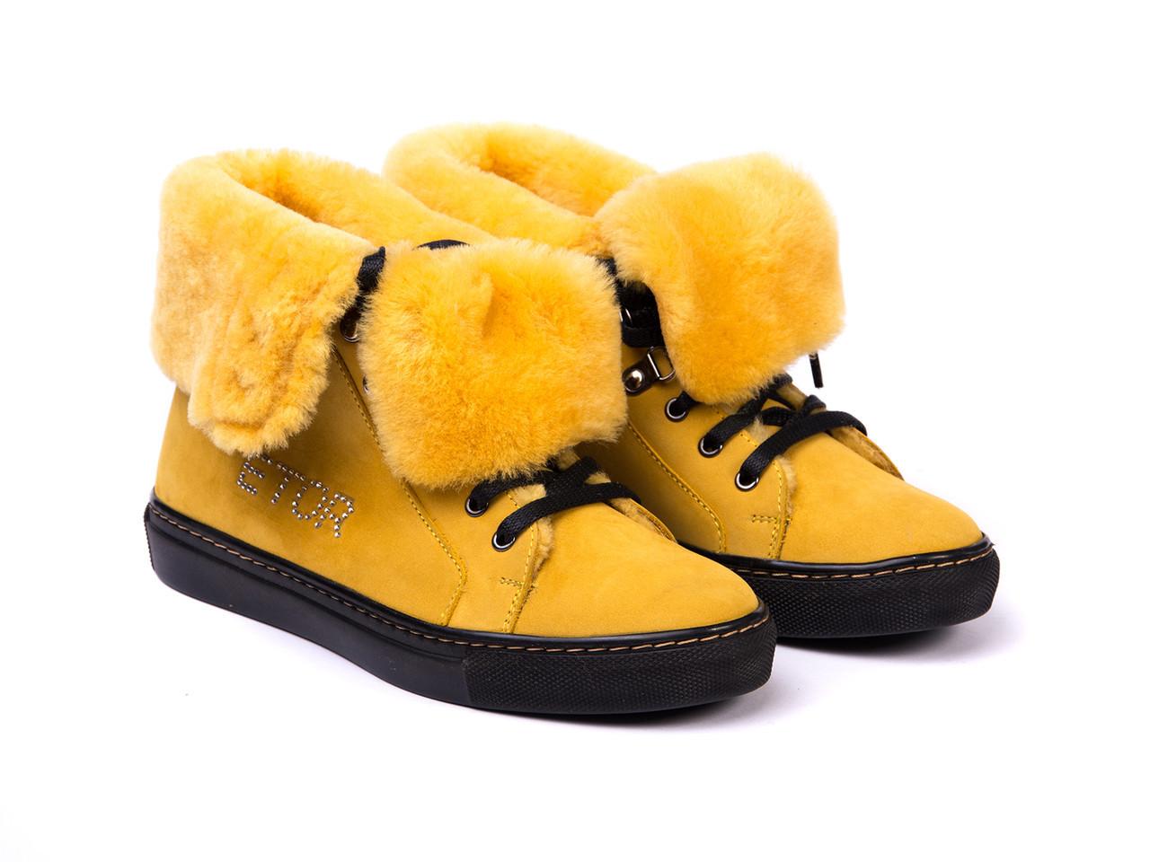 Ботинки Etor 4690-7165-709 36 желтые