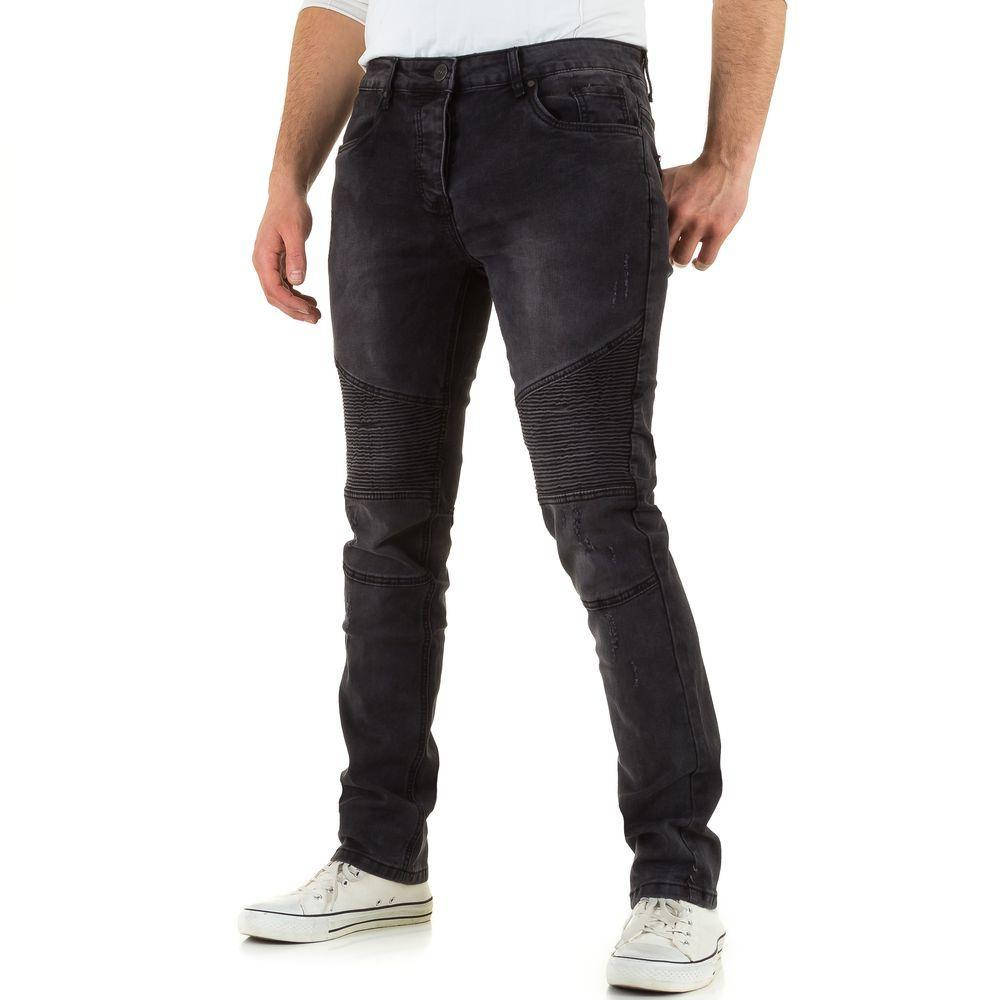 Байкерские мужские джинсы Black Ace (Европа), Черный