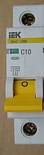 Вимикач автоматичний IEK MVA21-1P С10
