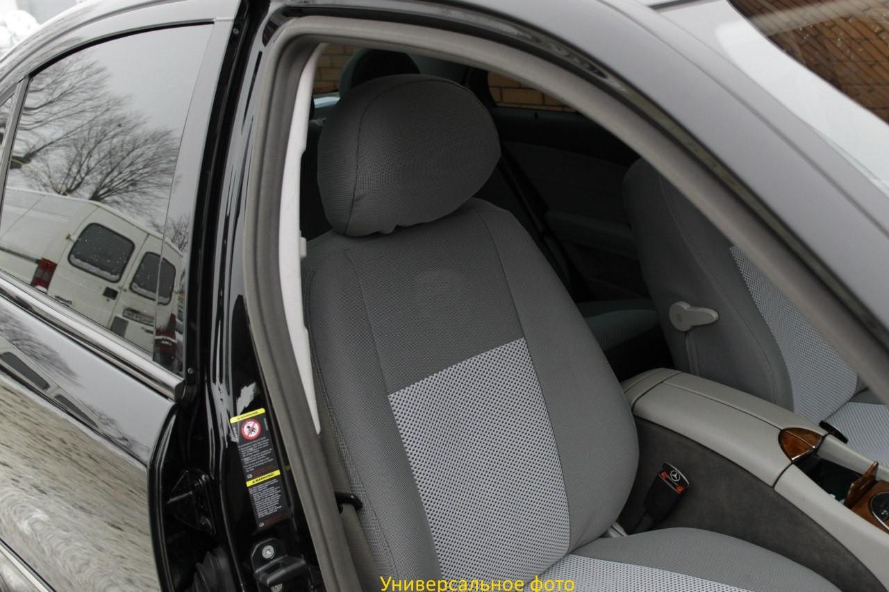 Чехлы салона Nissan Micra (K12) с 2003-10 г(цельная), /Серый