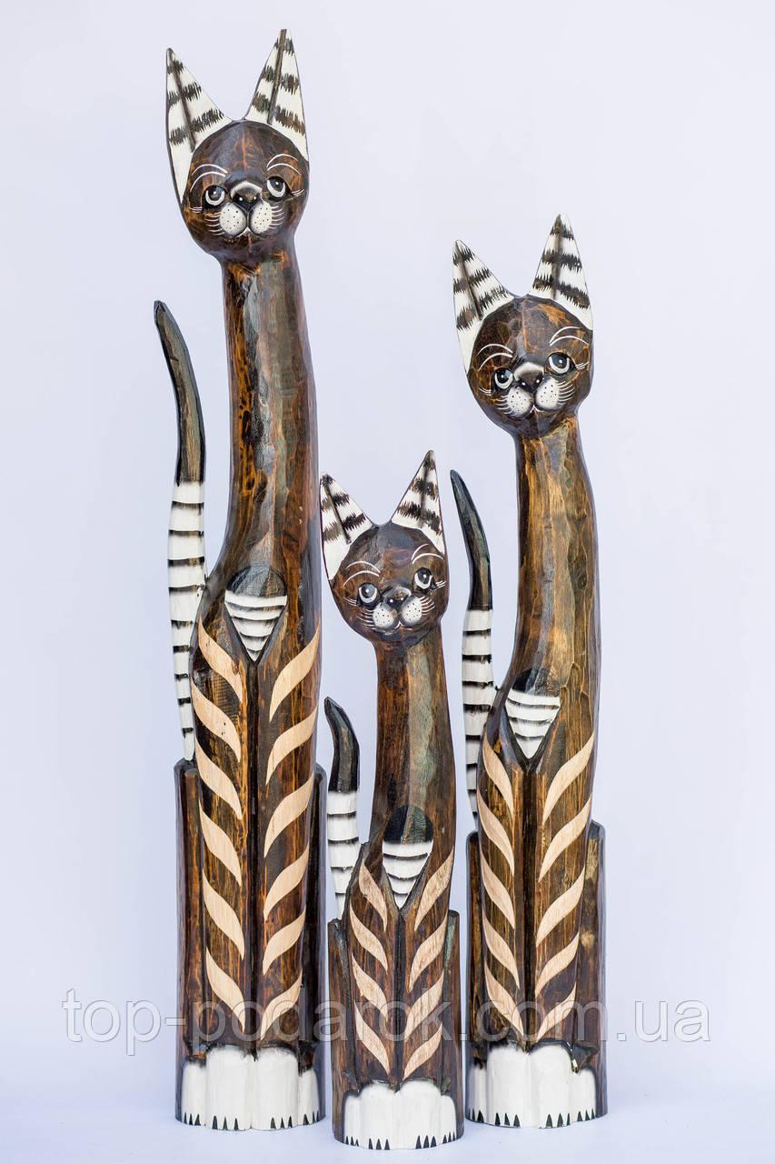 Статуєтка кошка деревянная высота 60 см