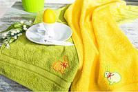 Набор салфеток Зайцы желтый/салат