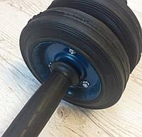 Ролик для пресса, колесо для пресса, металический  ролик на подшипнике, гимнастический ролик, роллер, фото 1