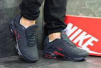 47e11fb0 Кроссовки мужские найк темно-синие красные зимние с мехом (реплика) Nike  Air Max