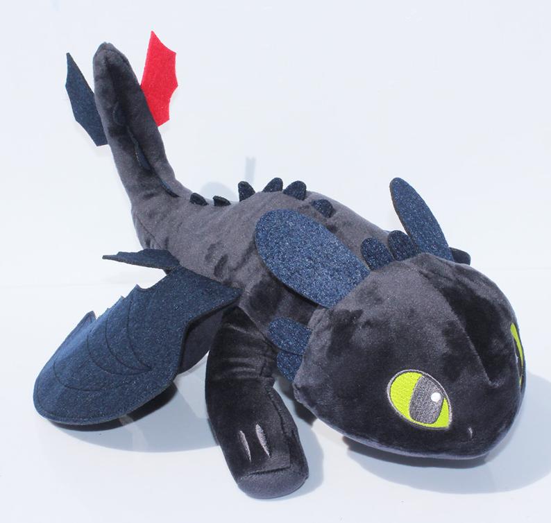 Мягкая плюшевая игрушка Дракон Беззубик Как приручить дракона 26 см.