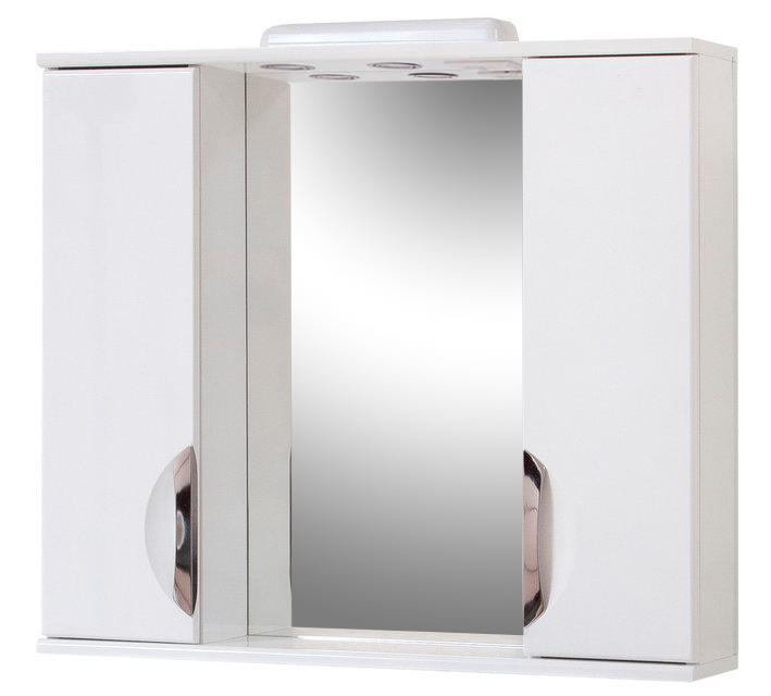 Зеркало для ванной комнаты Альвеус 80-04 врезная ручка ПИК