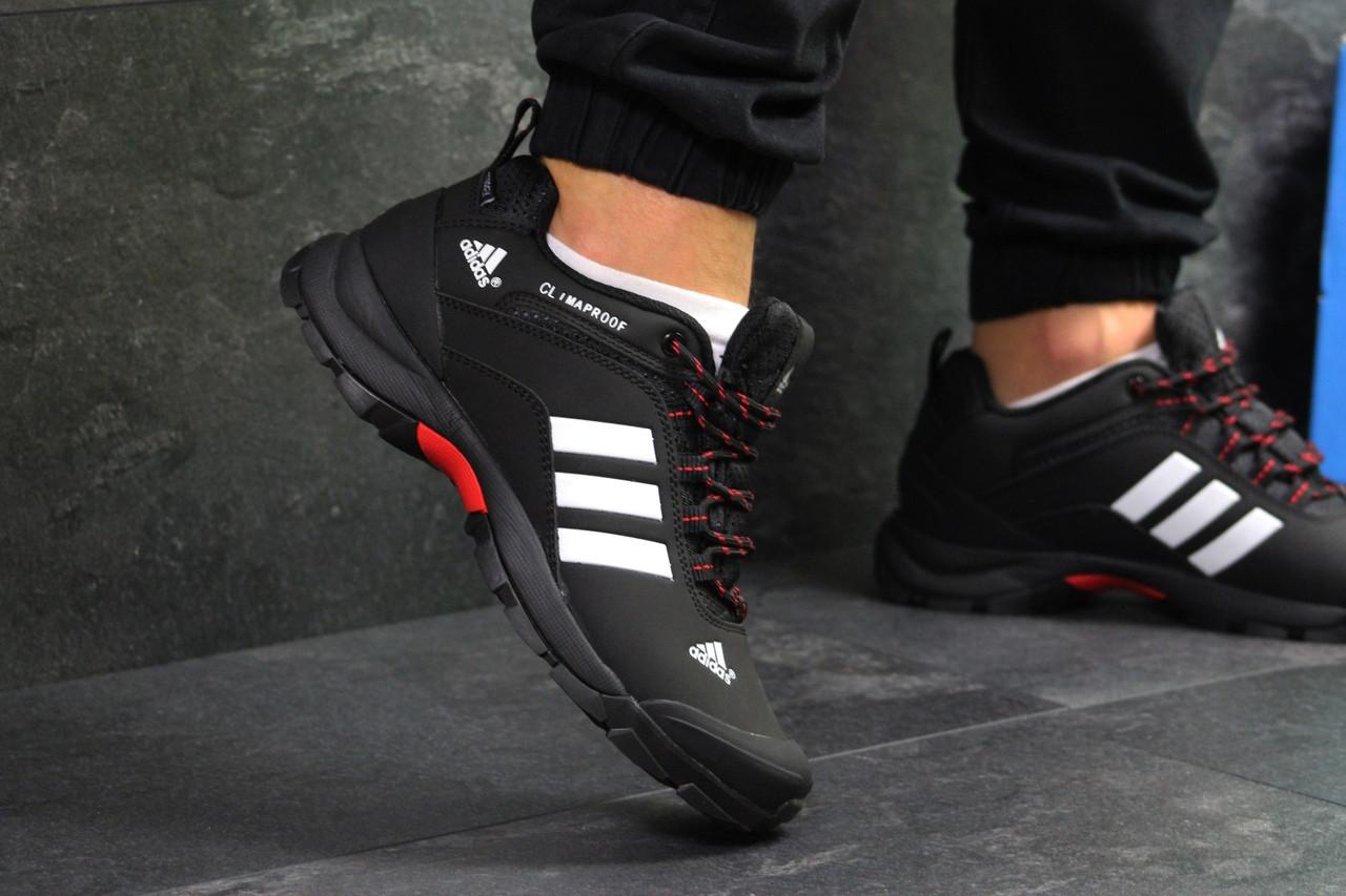 Кроссовки мужские Adidas Climaproof  осенние теплые удобные спортивные (черные), ТОП-реплика