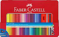 Акварельные цветные карандаши Faber-Castell Grip 48 цветов в металлической коробке ,112448