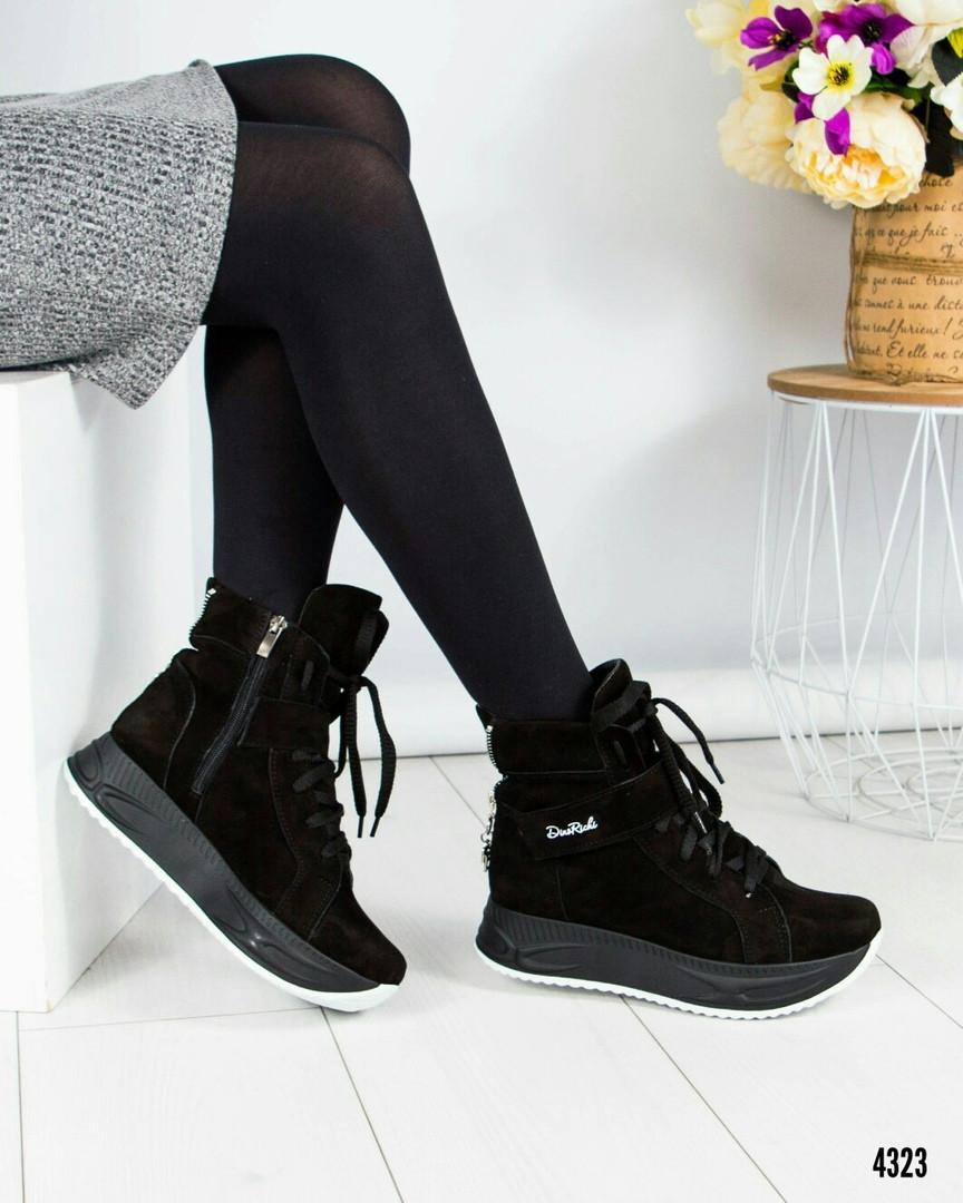d7b2be73 Кроссовки высокие женские замшевые черные: продажа, цена в Каменском ...