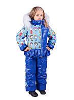 """Детский зимний костюм с комбинезоном для девочки """"Куклы"""""""
