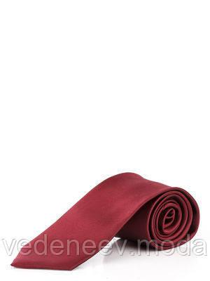 Галстук узкий бордовый
