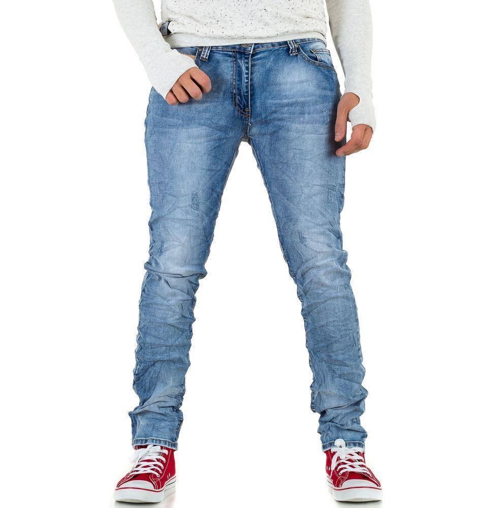 Мятые джинсы мужские Dklic Jeans (Европа), Синий