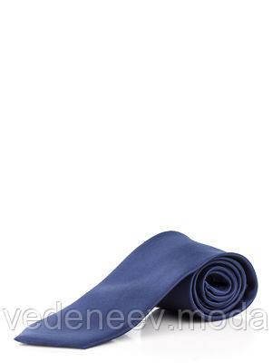 Галстук узкий синий , шелк высокого качества.