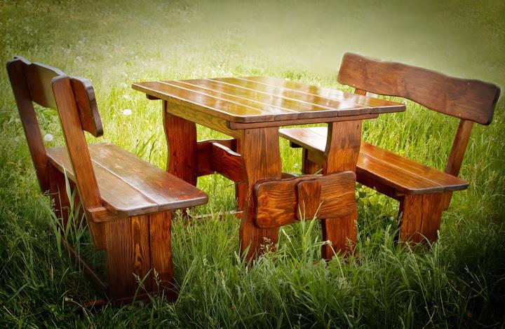 Производство столов деревянных для дачи и сада 2200*800
