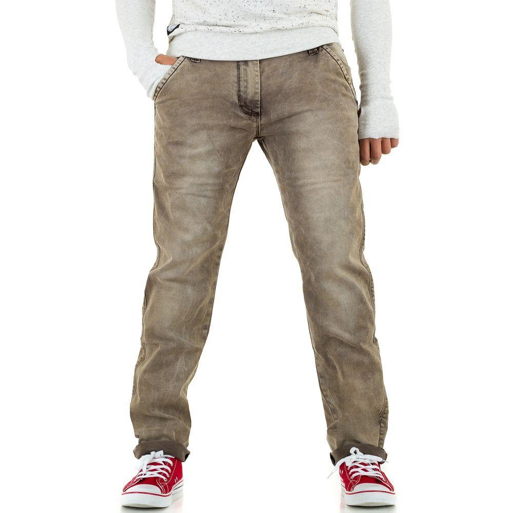 Джинсы мужские One Two Jeans (Европа), Бежевый
