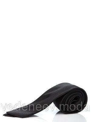 Черный узкий галстук