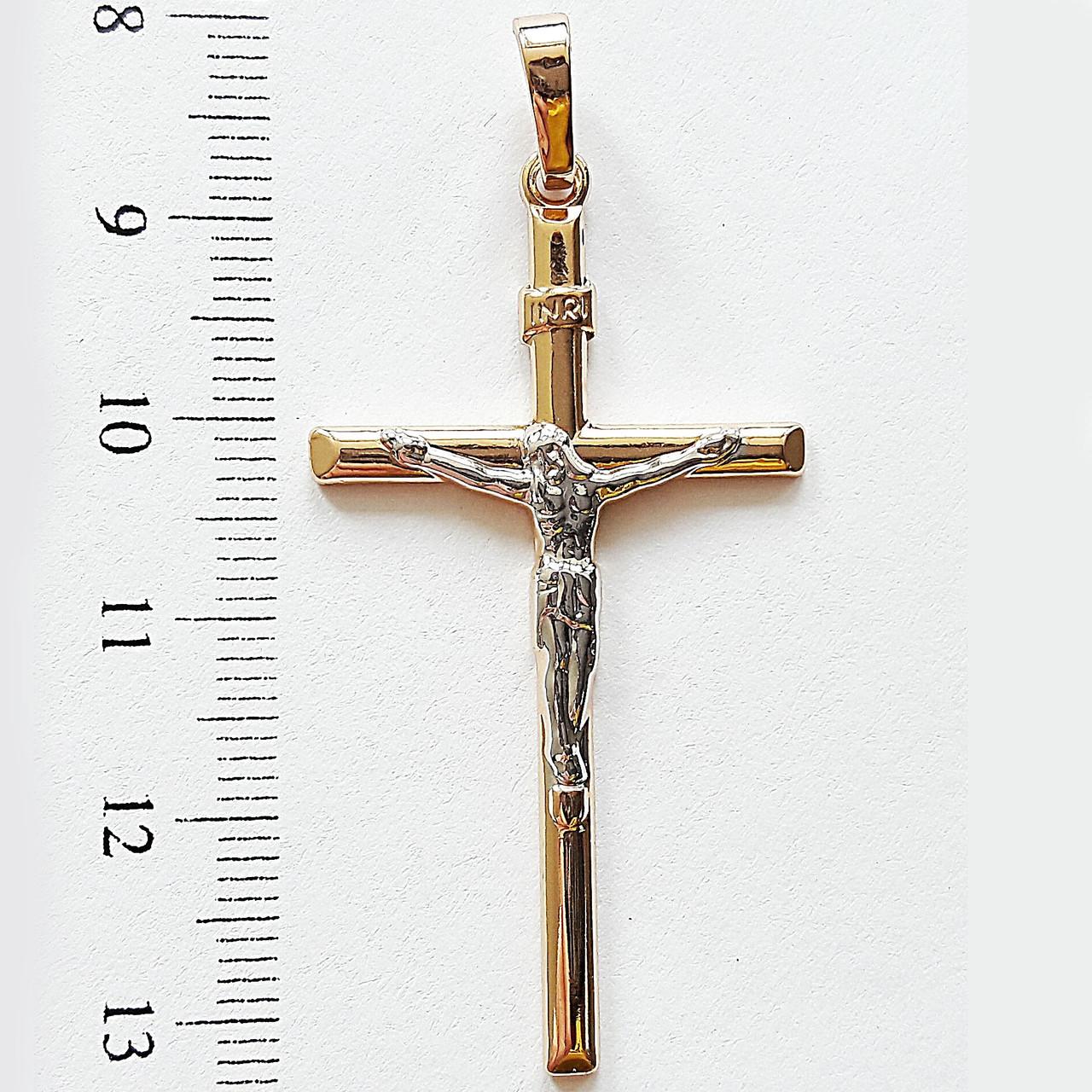Крестик  xuping  длина 5.3см позолота 18к медзолото к331
