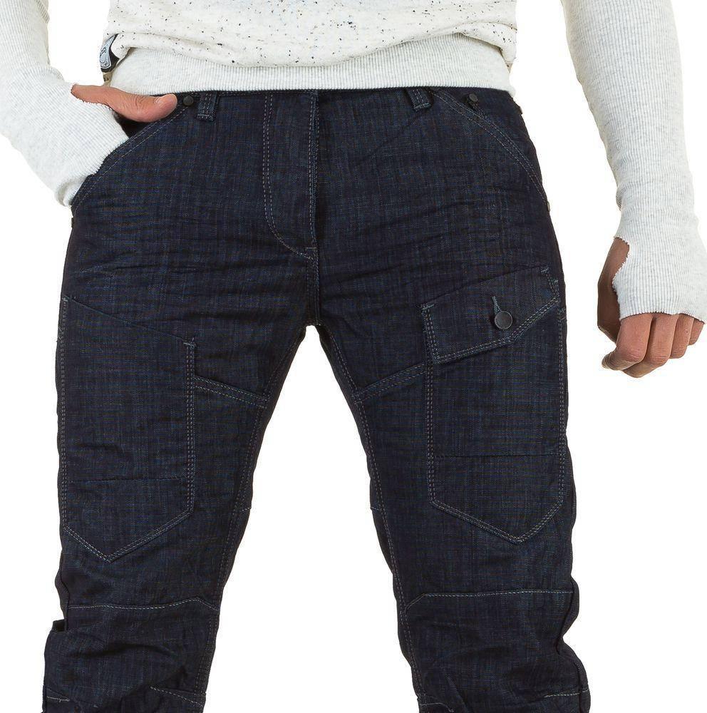 Джинсы мужские One Two Jeans (Европа), Темно-синий